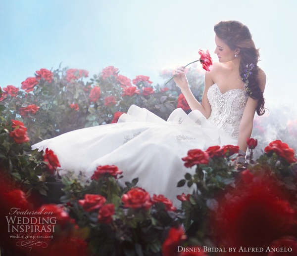 disney bridal alfred angelo belle wedding dresses 2012