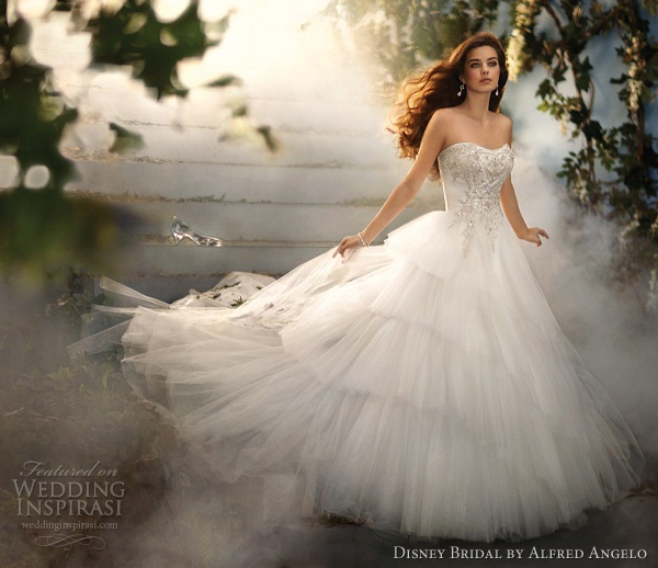Disney wedding dresses 2012 collection for Cinderella inspired wedding dress