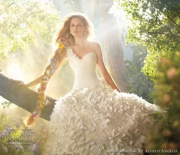 disney bridal alfred angelo rapunzel wedding dress 2012