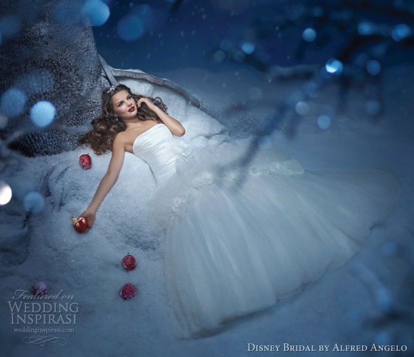 disney bridal alfred angelo snow white wedding dresses 2012