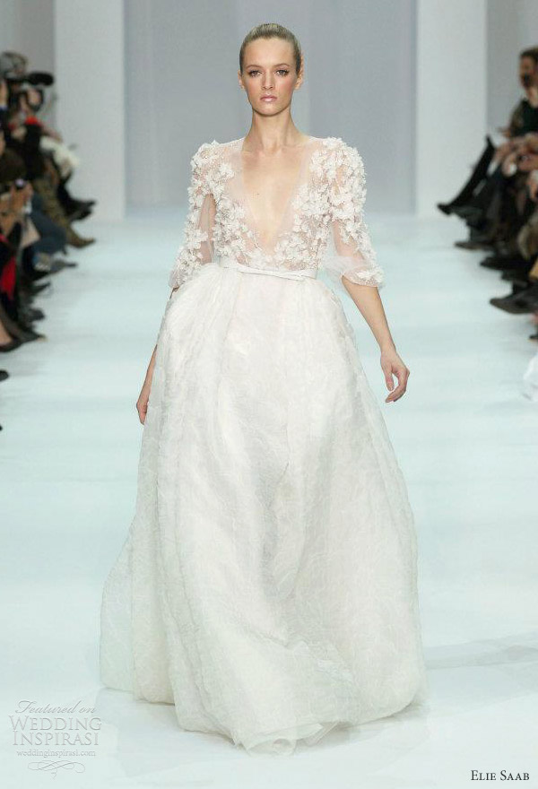 elie saab bridal 2012 - wedding dress ideas from the couture show