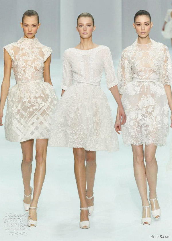 elie saab spring 2012 couture bridal - short wedding dresses