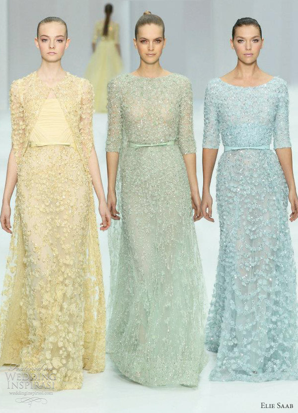 elie saab spring 2012 couture - pastel wedding gowns
