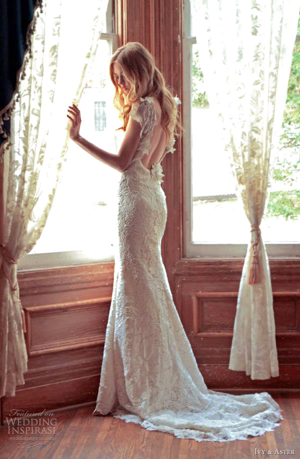 ivy aster sunflower wedding dress 2012