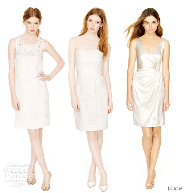 j crew spring 2012 short wedding dresses