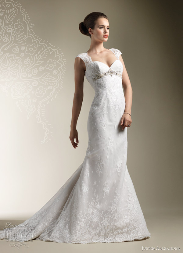 justin alexander 2012 cap sleeve wedding dress