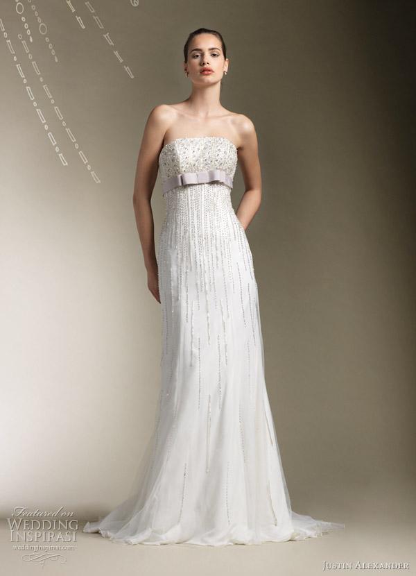 justin alexander 2012 empire wedding dress
