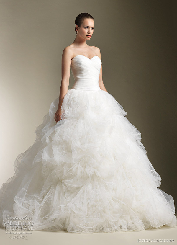 Justin alexander wedding dresses spring 2012 wedding for Pretty ball gown wedding dresses