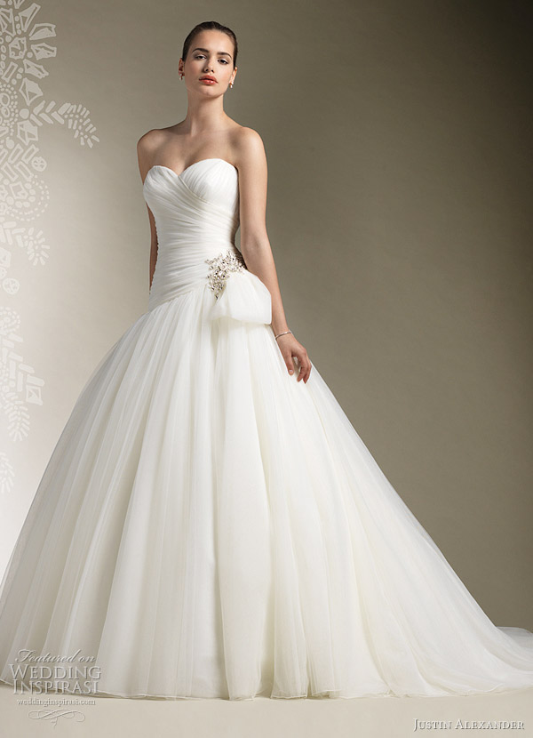 justin alexander bridal 2012 ball gown style 8610