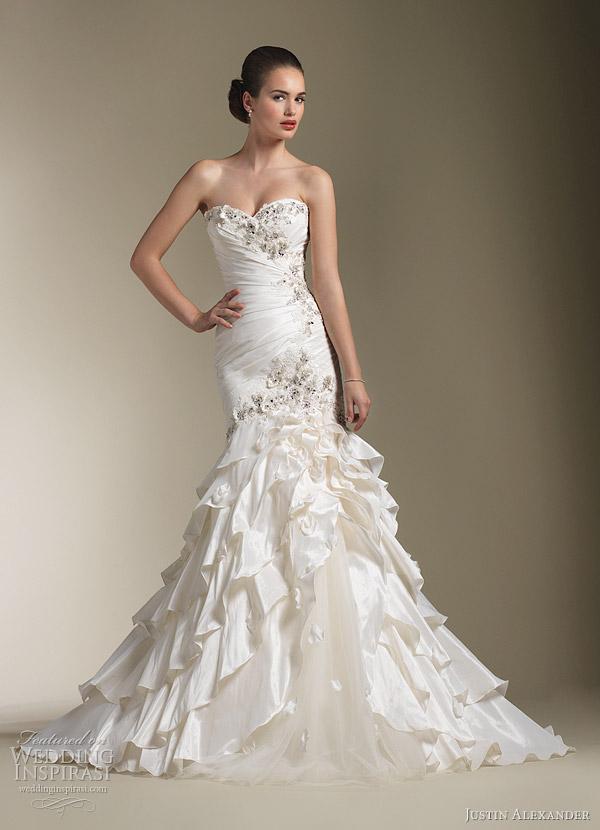 justin alexander wedding gowns 2012