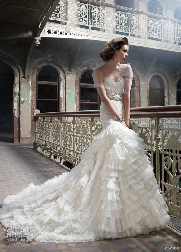 lazaro 3200 wedding dress - style 3200