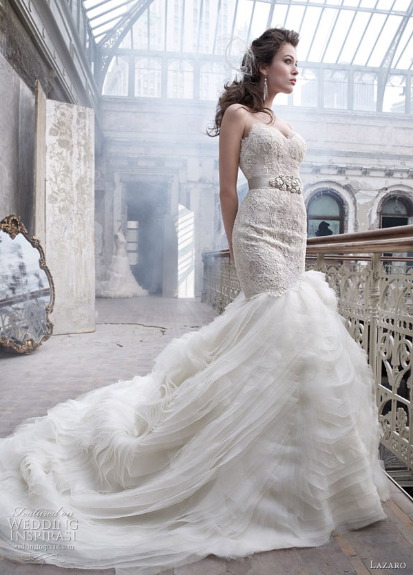 lazaro bridal spring 2012 - wedding dress style 3201