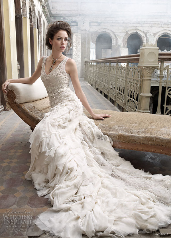 lazaro wedding dresses style 3202