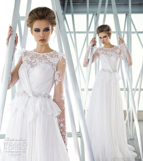 mira zwillinger 2012 wedding gown