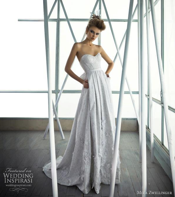 mira zwillinger couture wedding gown 2012