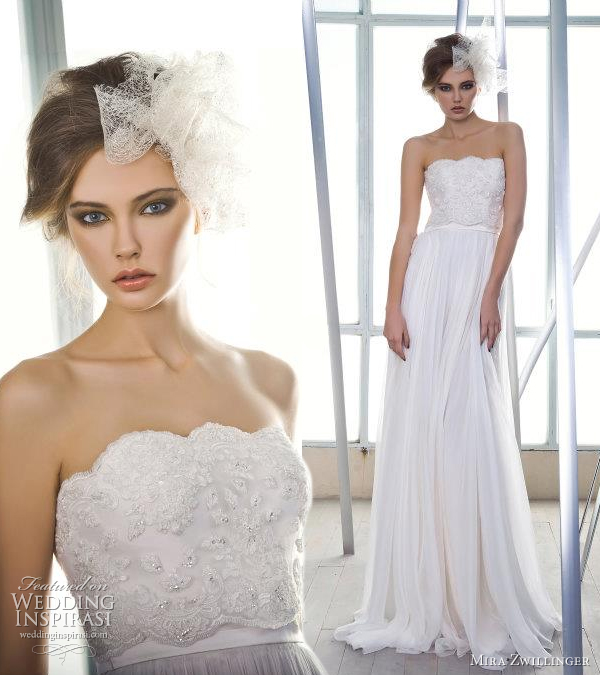 mira zwillinger wedding gown 2012
