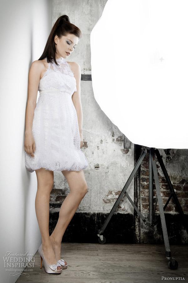 pronuptia studio short wedding dress 2012 - looping