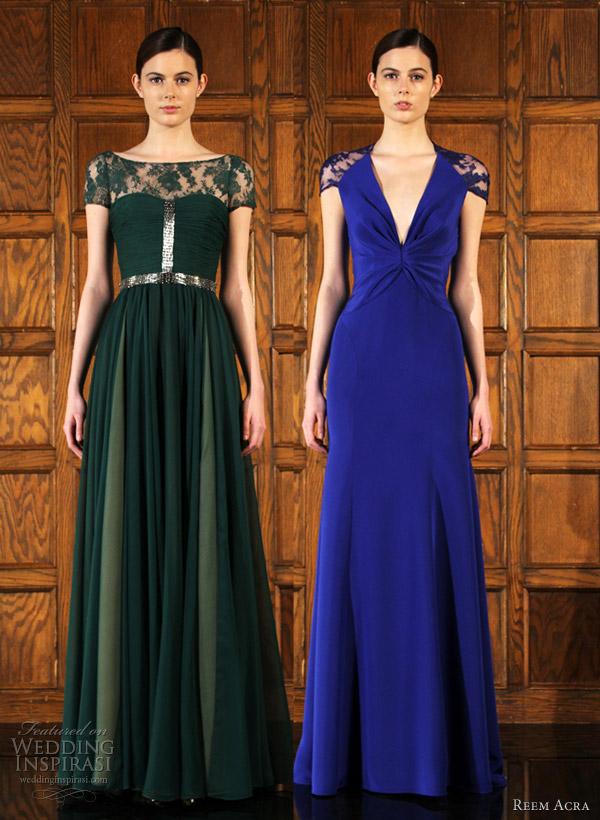 reem acra pre fall 2012 dresses