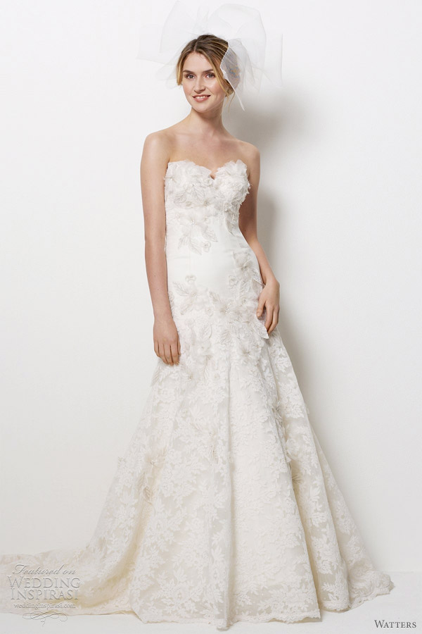 watters hollywood wedding dress 2012
