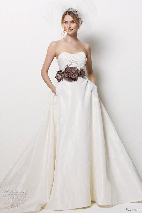 Silk taffeta wedding dress wedding ideas watters wedding dresses inspirasi junglespirit Choice Image
