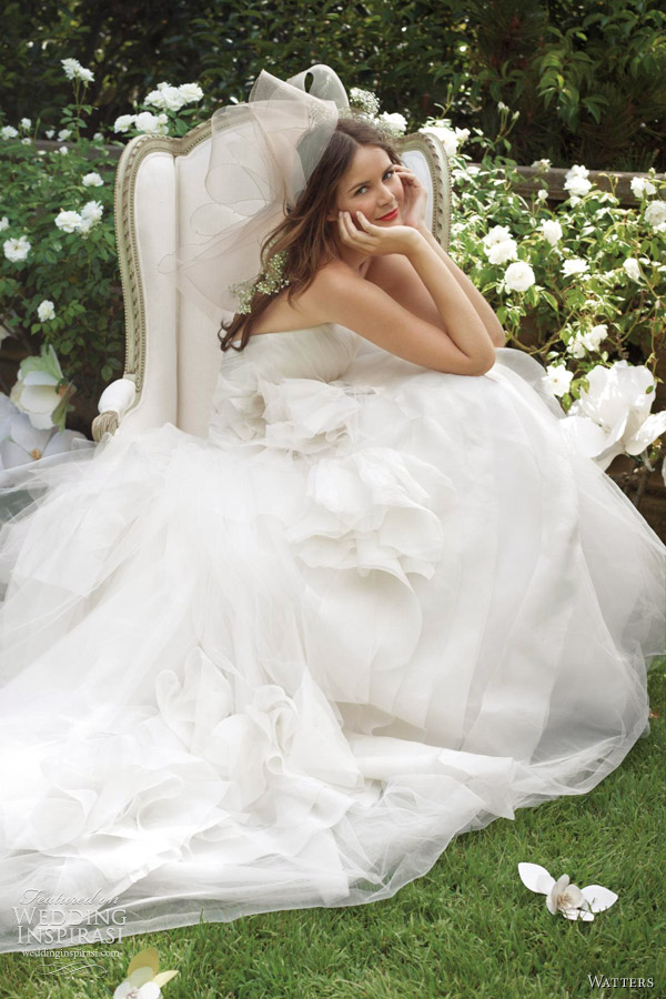 watters spring 2012 wedding dress