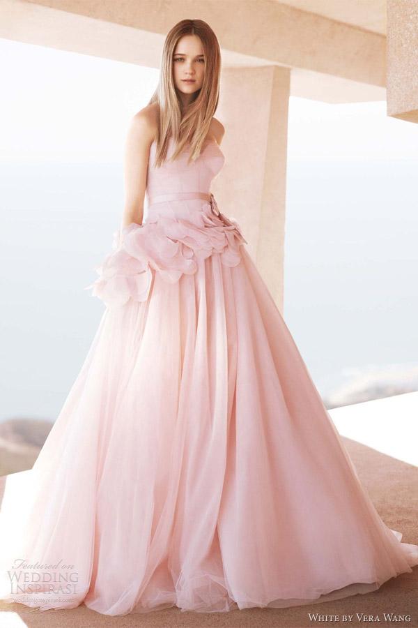white by vera wang 2012 pink wedding dress