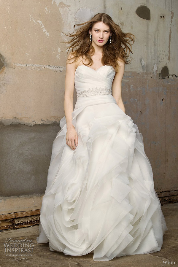 More gorgeous Wtoo wedding dresses after the jump Primrose lace corset