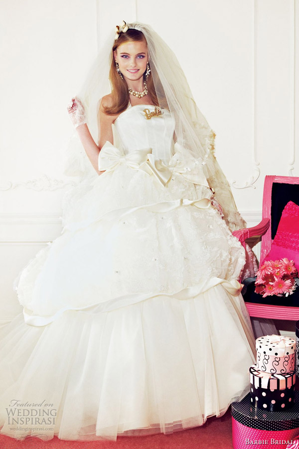 barbie bridal 2012 wedding dress