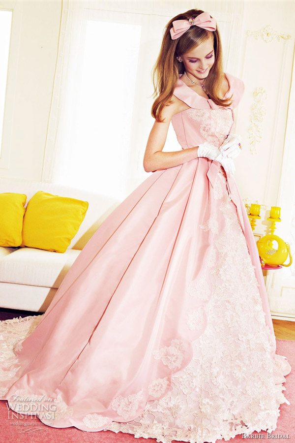 barbie pink wedding dress 2012