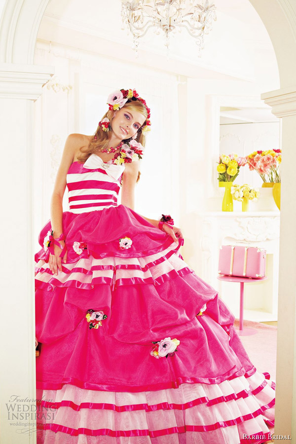 barbie pink wedding dresses 2012