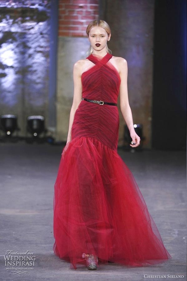 christian siriano fall 2012 red gown