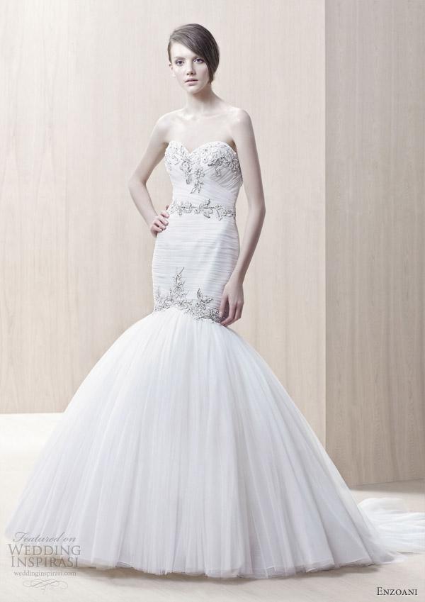 Modified Mermaid Wedding Dress 8 Spectacular enzoani bridal Gretchen mermaid