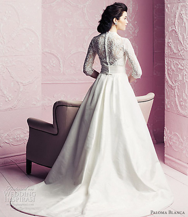 Grace Kelly Inspired Wedding Gowns: Paloma Blanca Wedding Dresses 2012
