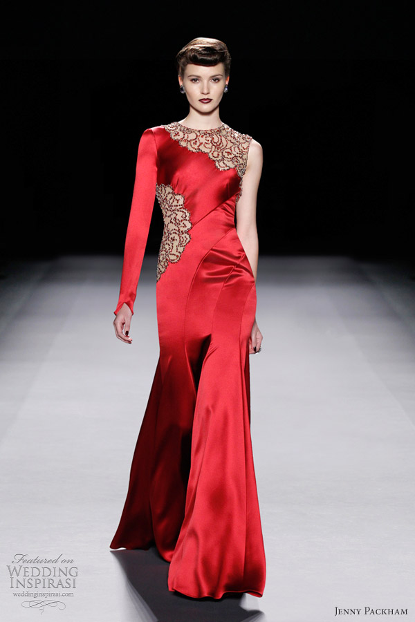 jenny packham 2012 red carpet gown