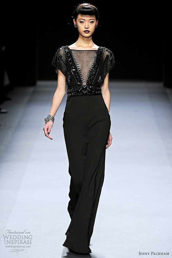 jenny packham fall 2012 black dress