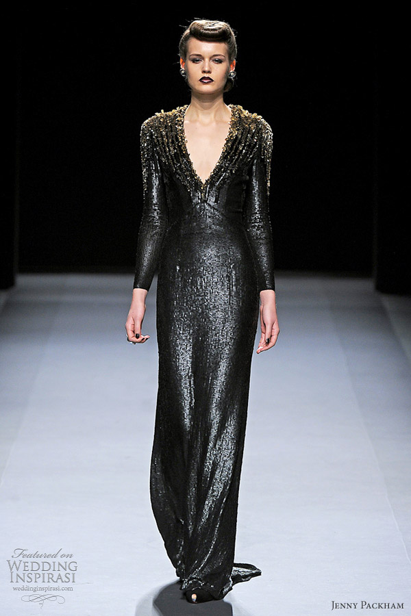 jenny packham fall 2012 long sleeve gown