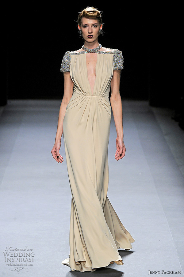 jenny packham fall 2012 red carpet gown