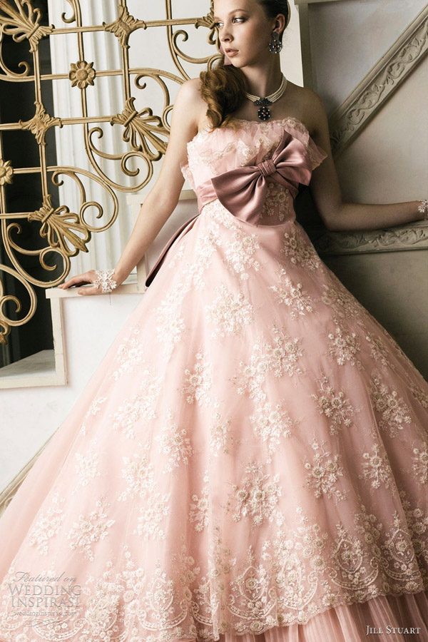 jill stuart 2012 pink wedding gown