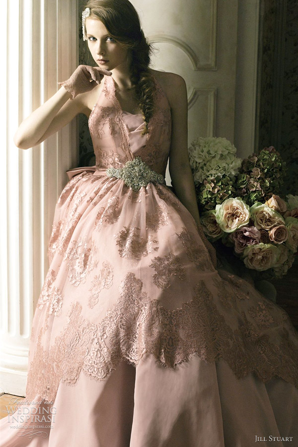 jill stuart bridal 2012 pink wedding dress