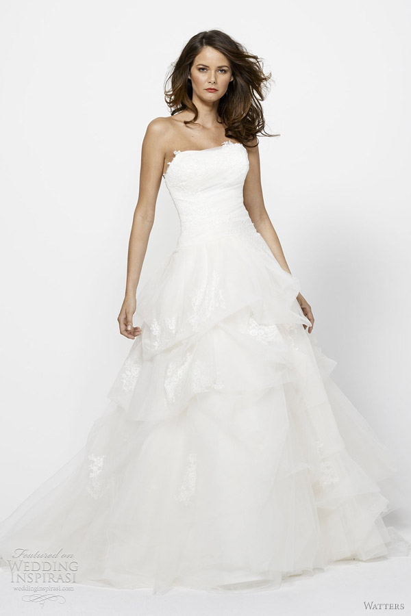 lena wedding dress 2012 watters