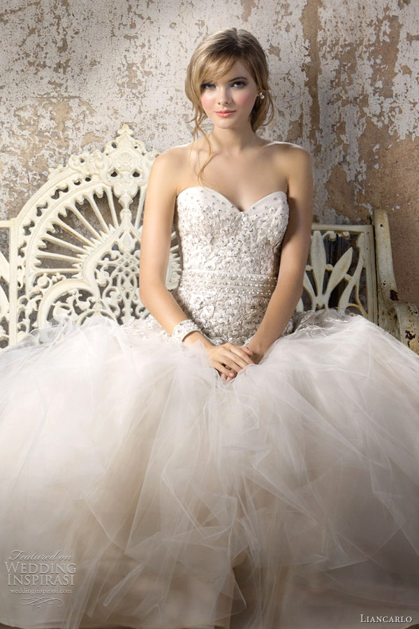 Fall 2014 Wedding Dresses Cheap Liancarlo Blush Wedding Dress