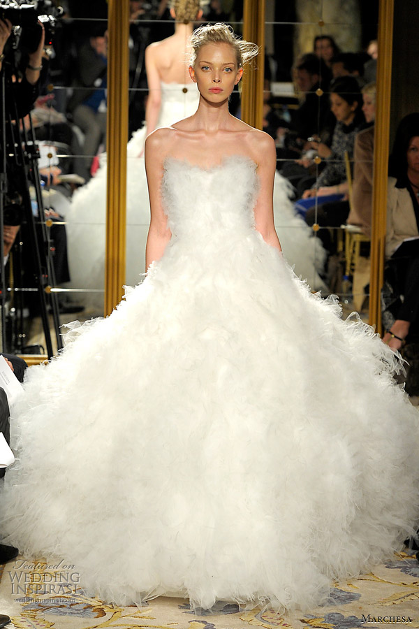 marchesa fall 2012 wedding dress The breathtakingly beautiful gowns from