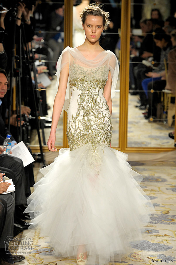 marchesa fall 2012 wedding dresses