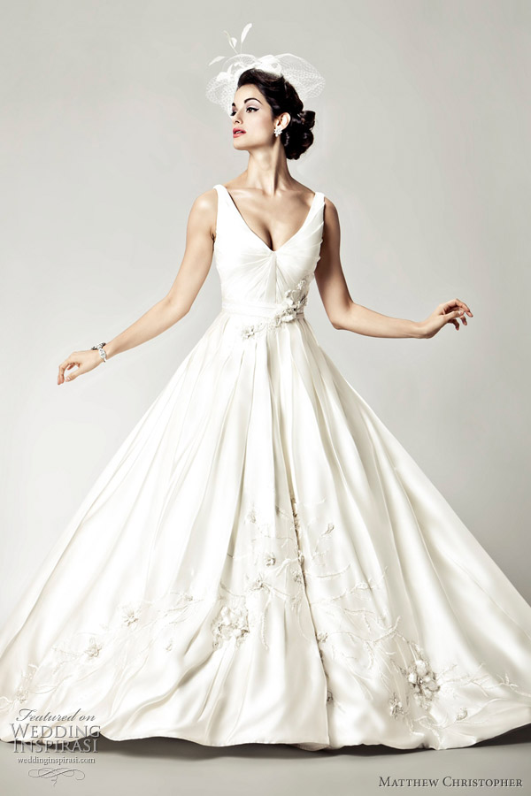 Matthew christopher 2012 bridal collection wedding inspirasi for Matthew christopher wedding dress prices