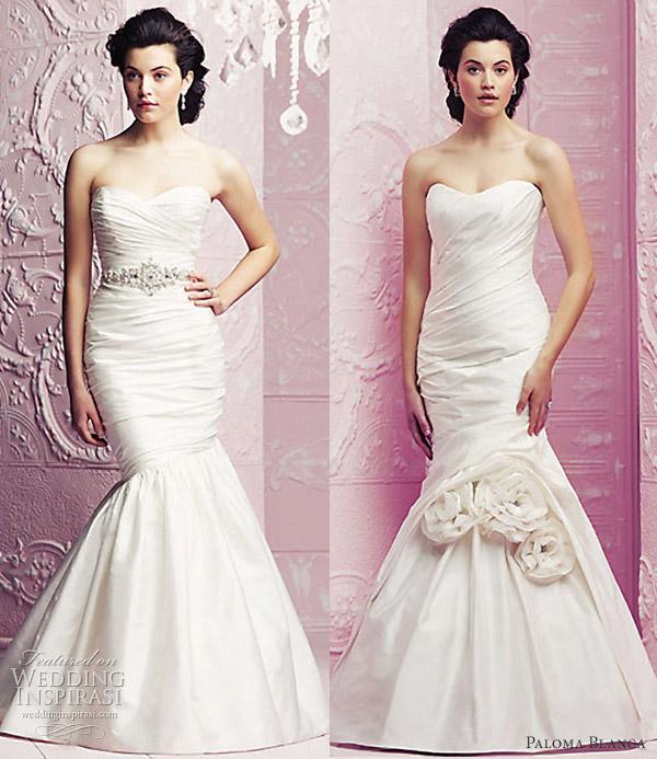 mermaid wedding dresses 2012 paloma blanca