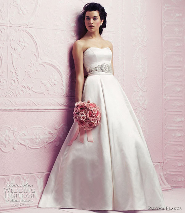 paloma blanca 2012 a line wedding dress