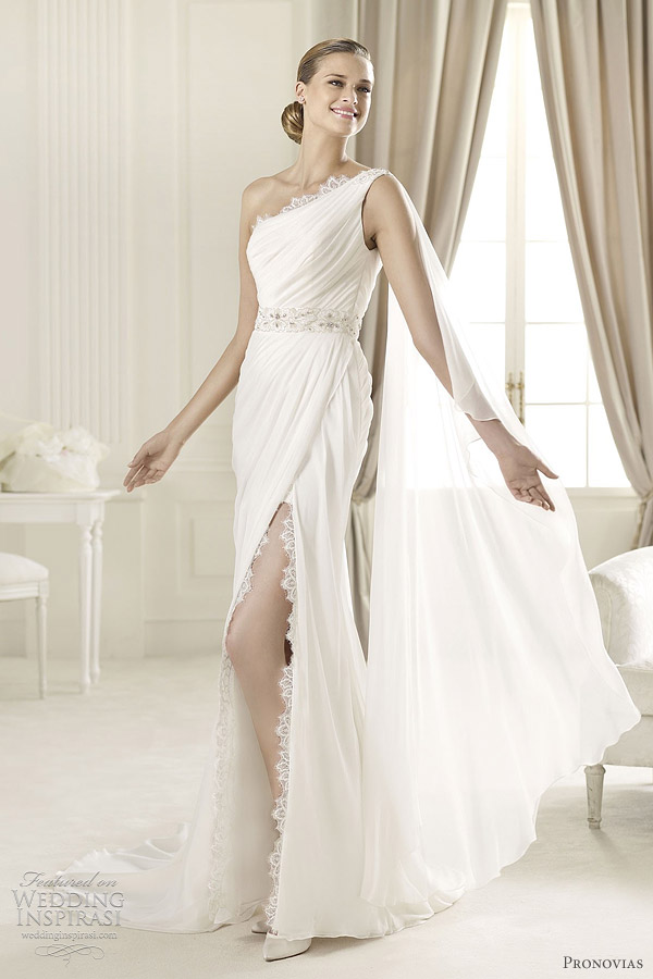 pronovias 2013 collection - duero one shoulder gown