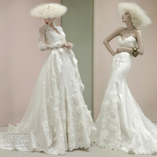 St pucchi couture wedding dresses 2012 wedding for Coats for wedding dresses