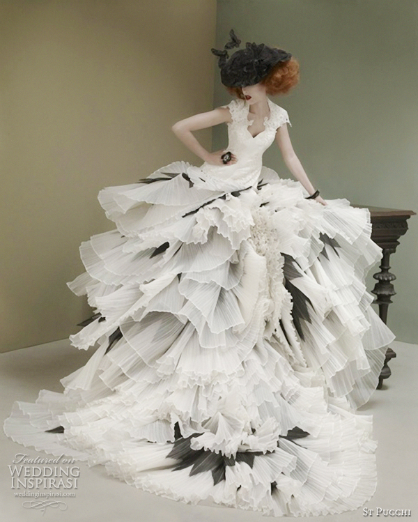Black and white gown st pucchi couture 2012 wedding dresses