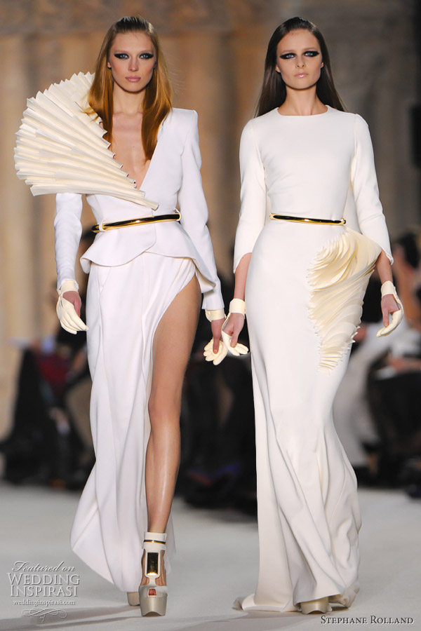 Stephane Rolland Spring 2012 Couture Wedding Inspirasi